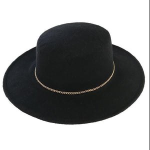 Stiff Brim Bolero Hat in Black