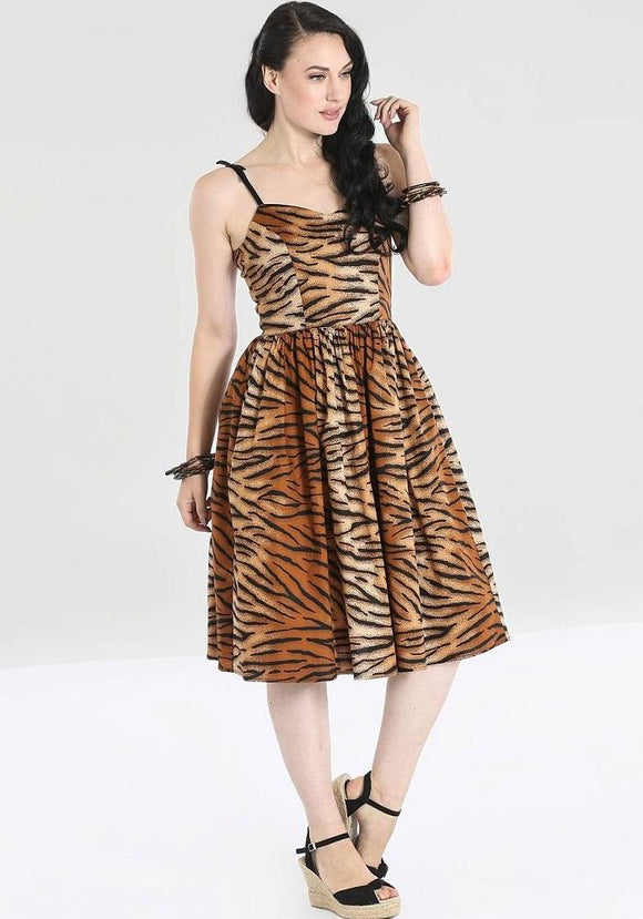 Tora Tiger Print Swing Dress