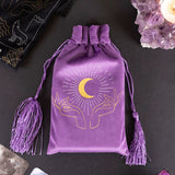Purple Velvet Tarot Hands Drawstring Pouch