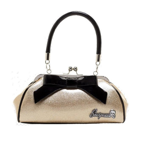 Sourpuss Floozy Sparkle Handbag in Gold