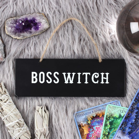 Small Boss Witch Hanging Sign