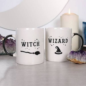 Witch and Wizard Coffee Mug Set