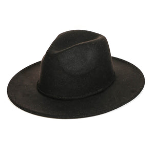 Rope Strap Fedora Hat in Black
