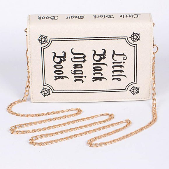 Little Magic Book Witchy Clutch Bag in White