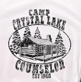 Friday 13th Camp Crystal Lake Counselor Slim Fit Unisex T-Shirt in Heather Grey