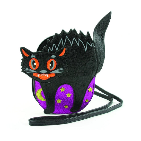 Halloween Scary Cat Cross Body Bag