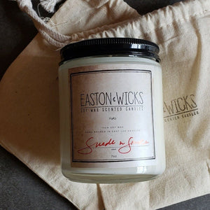 Suede n Smoke 7oz Jar Soy Wax Candle