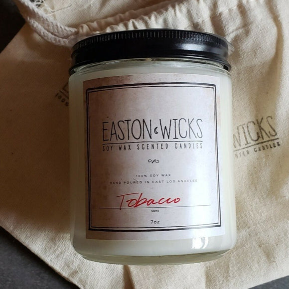 Tobacco Scent 7oz Jar Soy Wax Candle