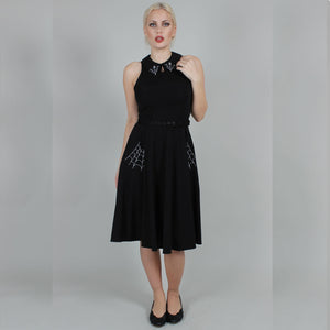 (Coming Soon) Charlie Spider Web Collared Flared Dress