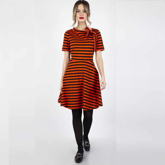 Marnie Halloween Striped Flare Dress