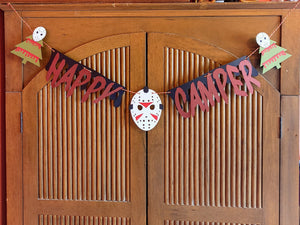 Horror Holiday 4.5ft Friday the 13th Happy Camper Paper Garland