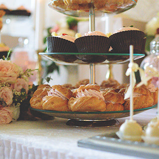 Afternoon tea for weddings. Sandwiches, cakes and more.
