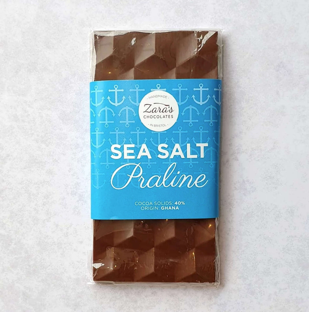 Perfect for any chocolate loving mum. Sea salt and praline chocolate. Indulge your Mum this Mother's day and treat her to some chocolate