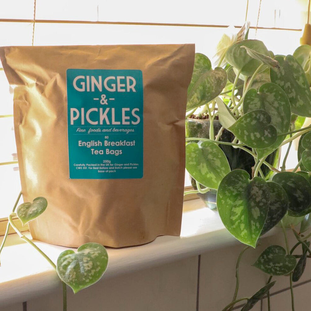 A bag of 80 Ginger & Pickles delicately flavoured tea bags originating from India, just like you drink in the tearooms.