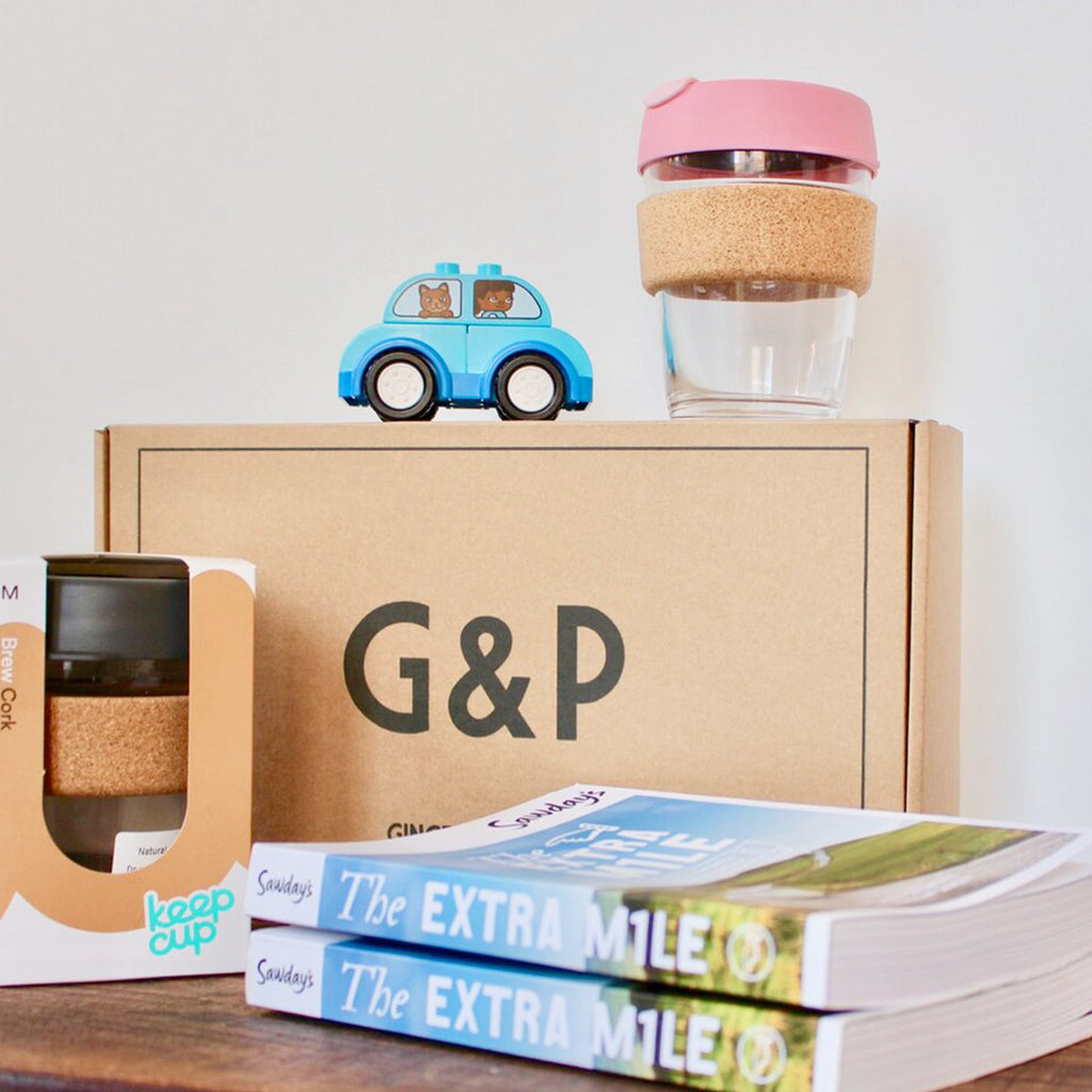 Take our Ginger and Pickles Road Trip Hamper on the road with you this year. Includes a sustainable KeepCup to keep your hot drinks on the go with you, the extra mile guide and a personalised message on unique G&P artwork. Perfect for UK travel.