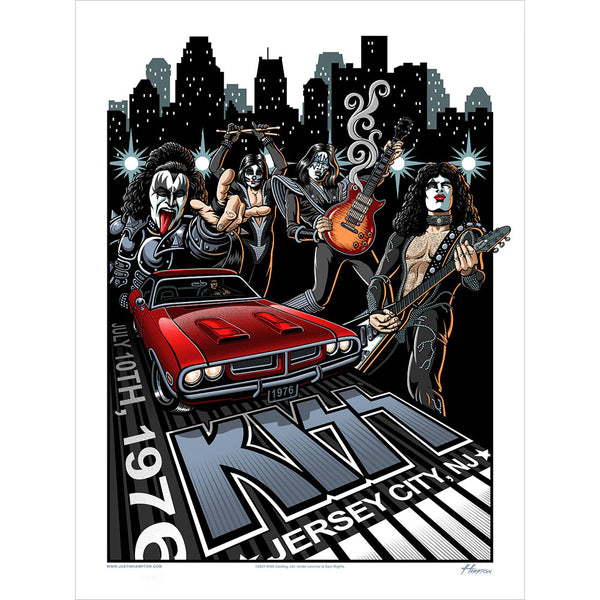 KISS July 10, 1976 Jersey City Gallery Poster