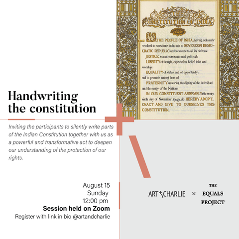 Handwriting the Indian Constitution
