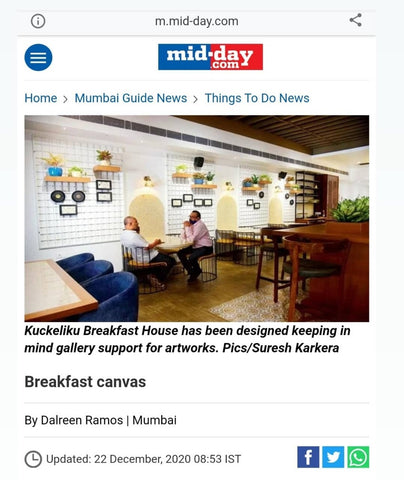 Art and Charlie press coverage, Mid-Day newspaper