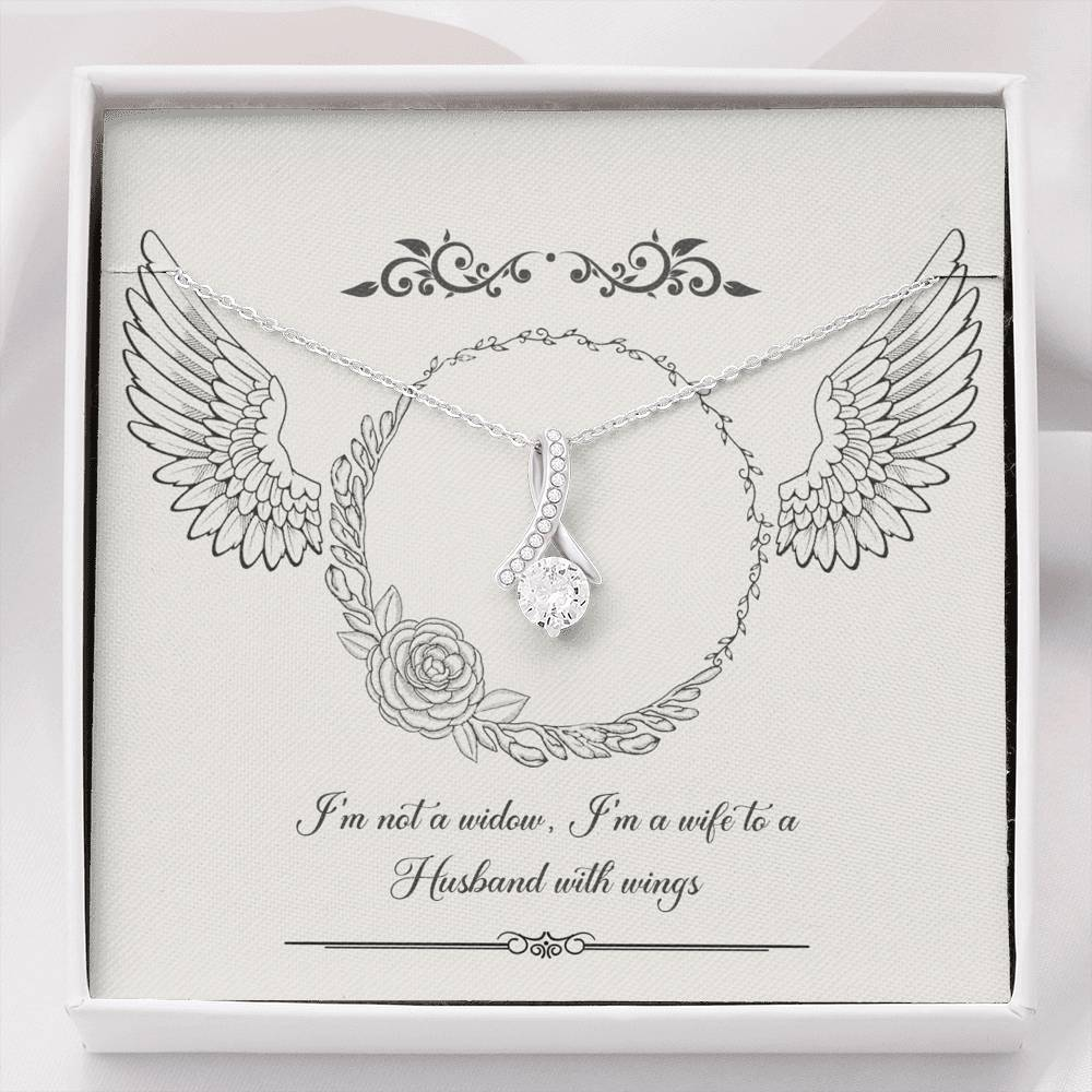 """I'm not a widow. I'm a wife to a...""-ALLURING BEAUTY necklace"