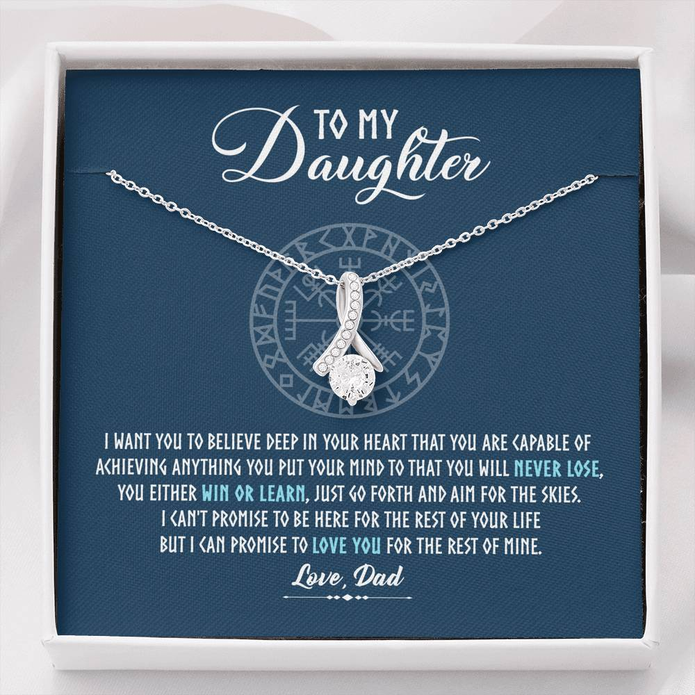 "To my daughter ""I want you to believe deep in your heart"" ALLURING BEAUTY necklace"