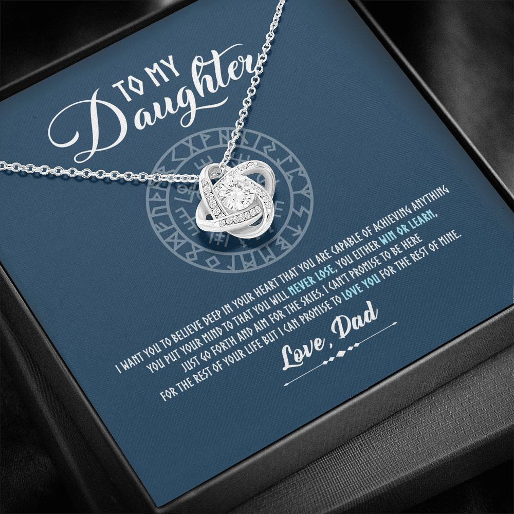 "To My Daughter ""I'll love You for the rest of mine"" - Love Knot Necklace"