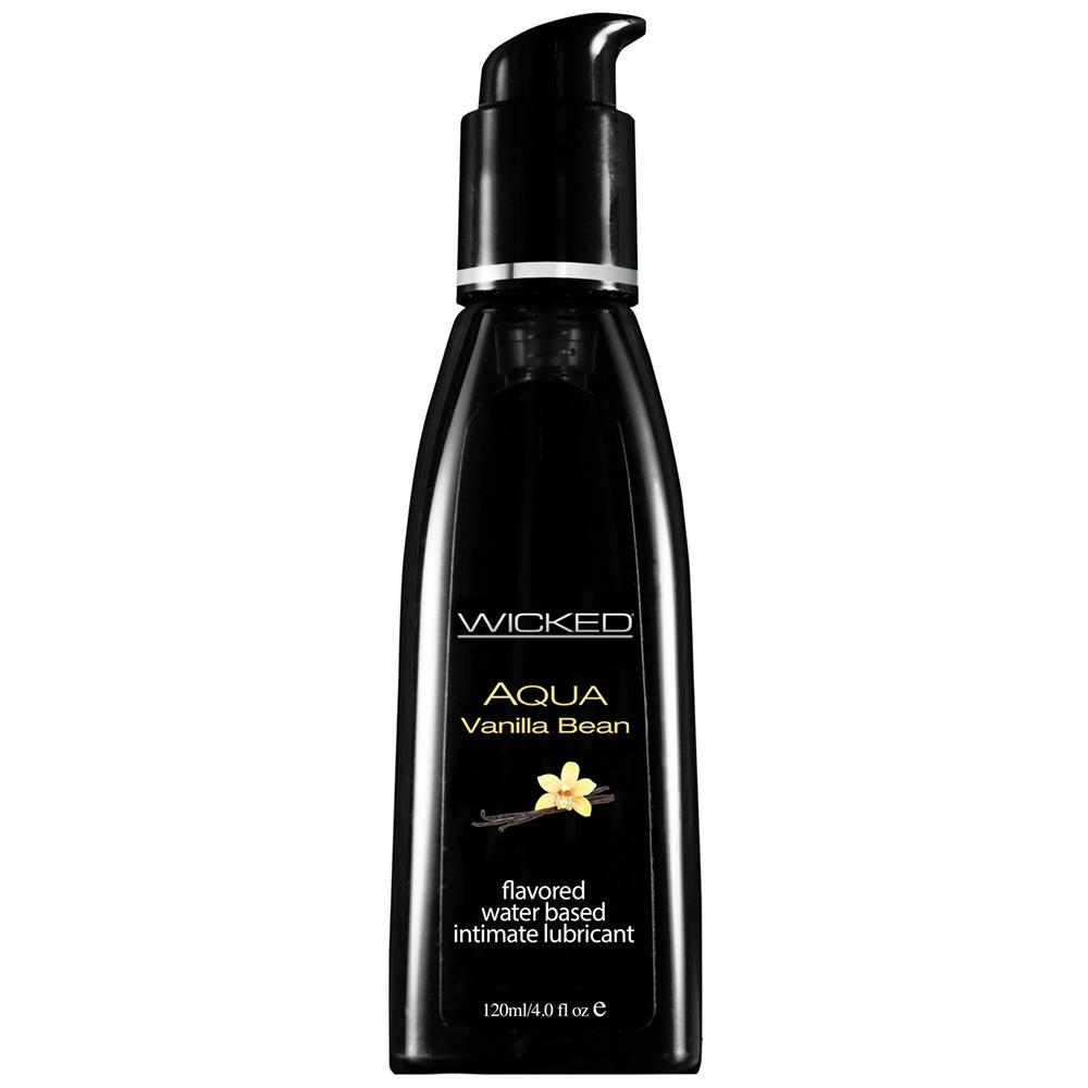 Aqua Flavored Lube 4oz/120ml in Vanilla Bean - Sex Toys Vancouver Same Day Delivery