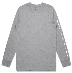 Grey Long Sleeve Tee | Free Shipping