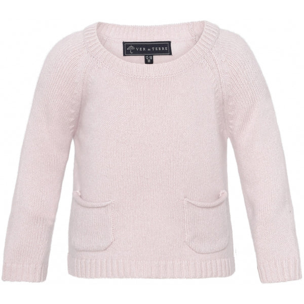 VER de TERRE Cashmere baby sweater Cashmere 405 Rose powder