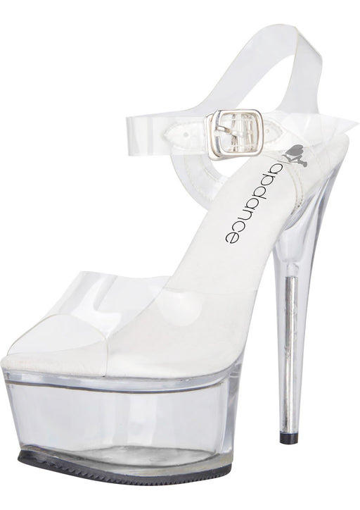Clear Platform Sandal With Quick Release Strap 6in Heel Size 8-Lapdance Shoes-Alt Lifestyle Online Adult Sex Toy Store AU