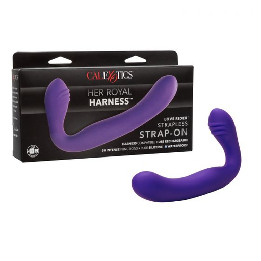 Her Royal Harness Love Rider Strapless Strap On - Purple-Calexotics-Alt Lifestyle Online Adult Sex Toy Store AU