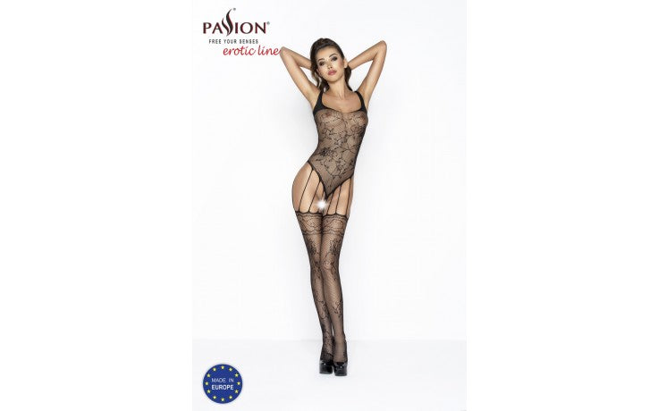 Bodystocking BS034 Black One Size-Passion Lingerie-Alt Lifestyle Online Adult Sex Toy Store AU