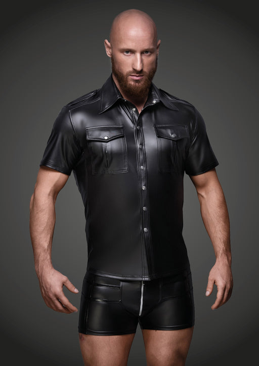 Sexy And Elegant Shirt With Front Pockets Black - Alt Lifestyle Online Sex Toy Store Australia