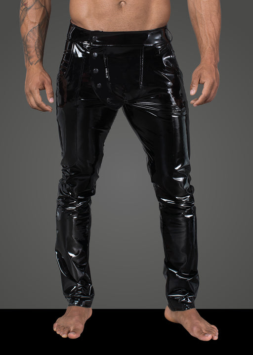 Long Elastic PVC pants-M Black-Noir-Alt Lifestyle Online Adult Sex Toy Store AU