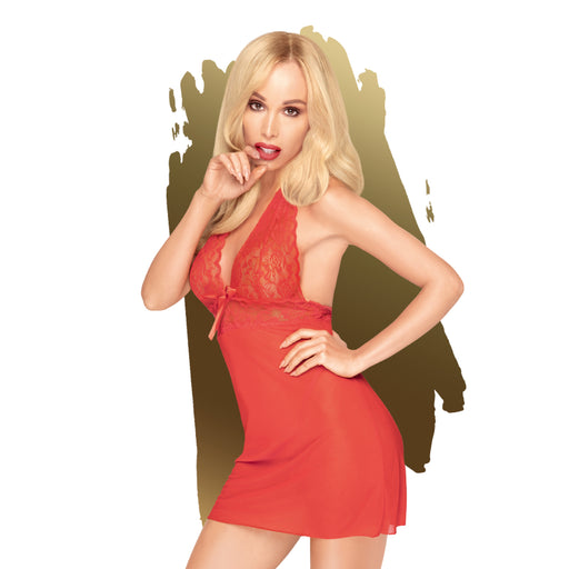 Sweet and Spicy Mini Dress w Thong - Large/Extra Large-Penthouse-Alt Lifestyle Online Adult Sex Toy Store AU