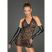 Lace Dress w Deep Neckline Small-Noir-Alt Lifestyle Online Adult Sex Toy Store AU