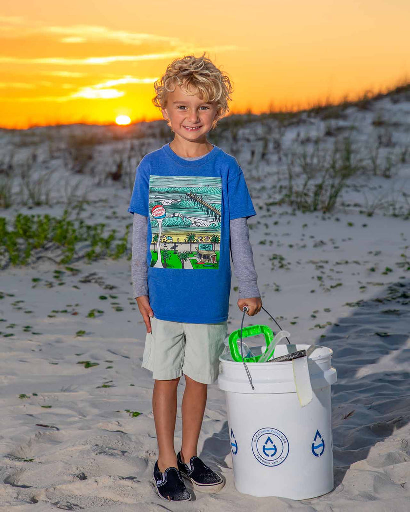Beach Cleanup at Sunset