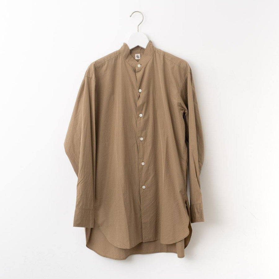 KAPTAIN SUNSHINE/ Finx Weather Stand Collar Shirt col.KHAKI