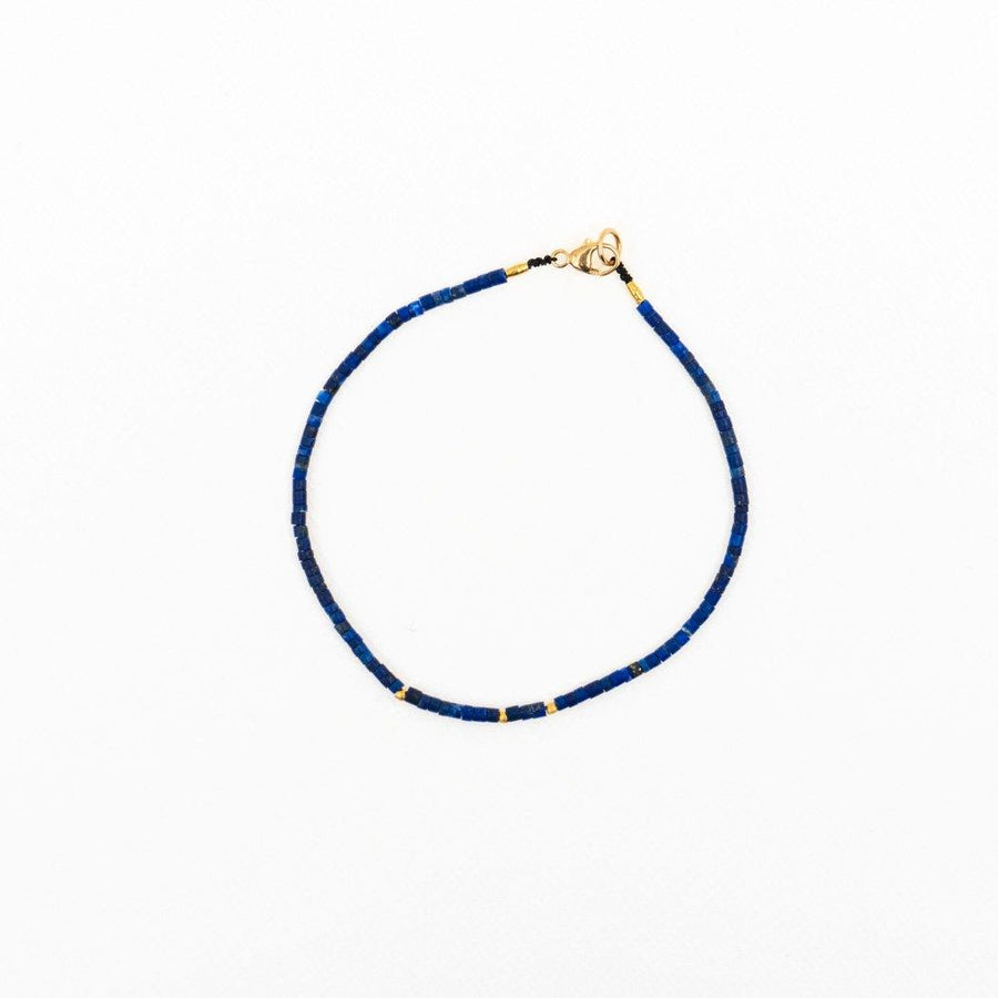 Margaret Solow/ Lapis and Gold Beads Bracelet