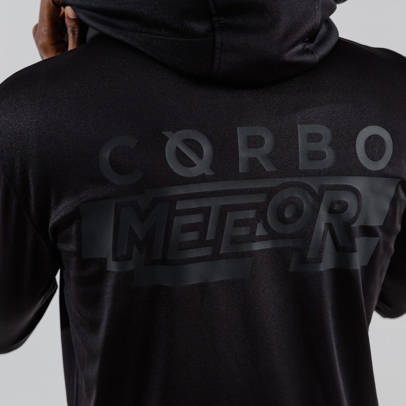 Meteor Hooded Tracksuit Black on Black