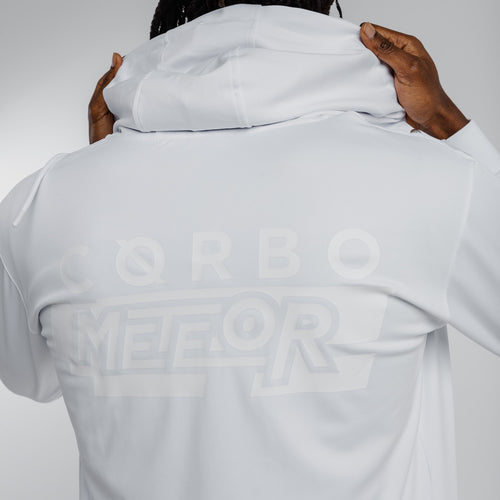 Meteor Hooded Tracksuit White on White