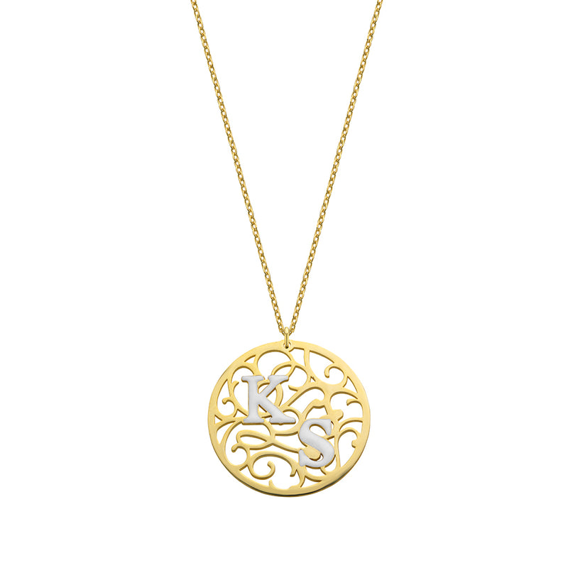 Aztec Coin Necklace gold