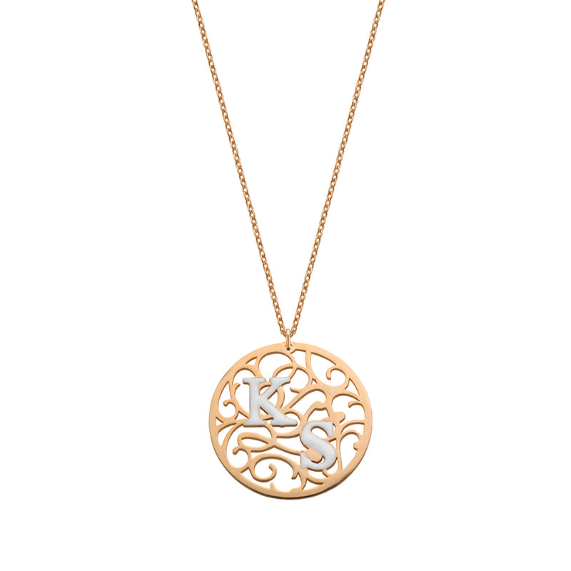 Aztec Coin Necklace rosé gold