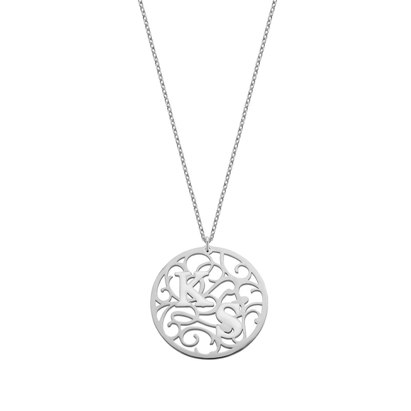 Aztec Coin Necklace silver