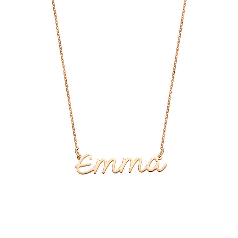 Luna Name Necklace rosé gold
