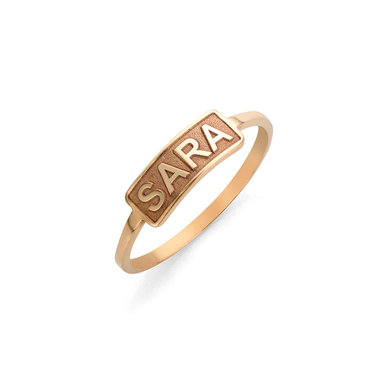 Bar Ring rosé gold