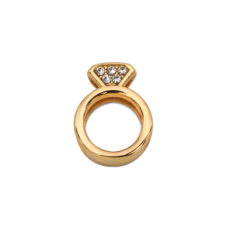 Mesh charm engagement gold