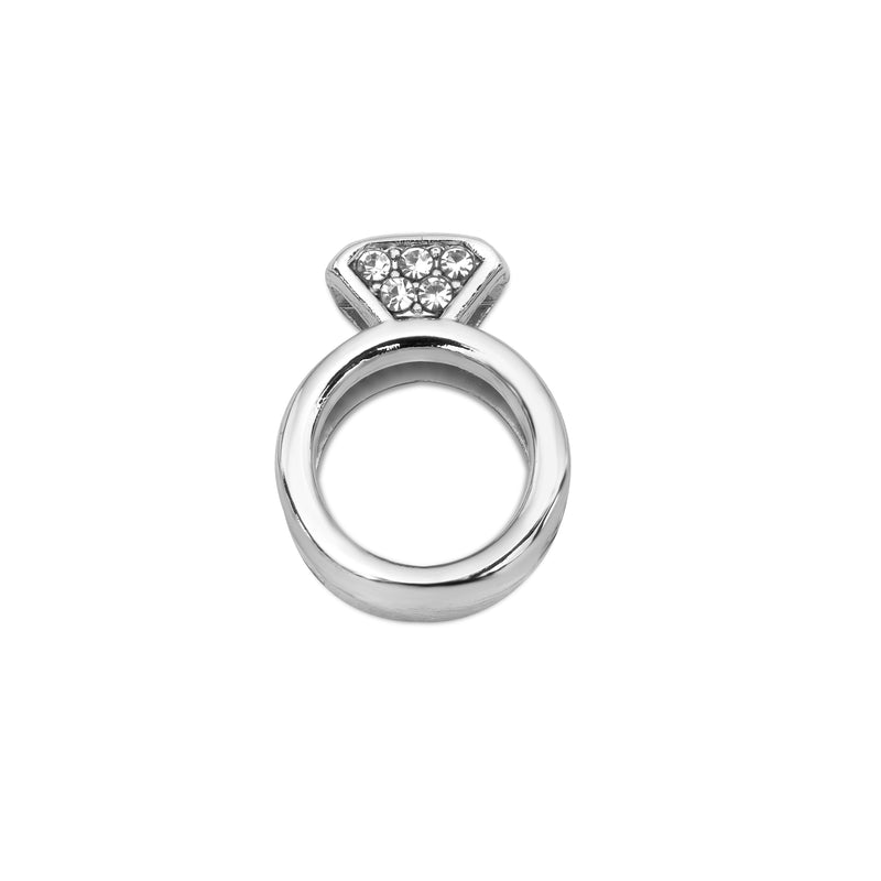 Mesh charm engagement silver