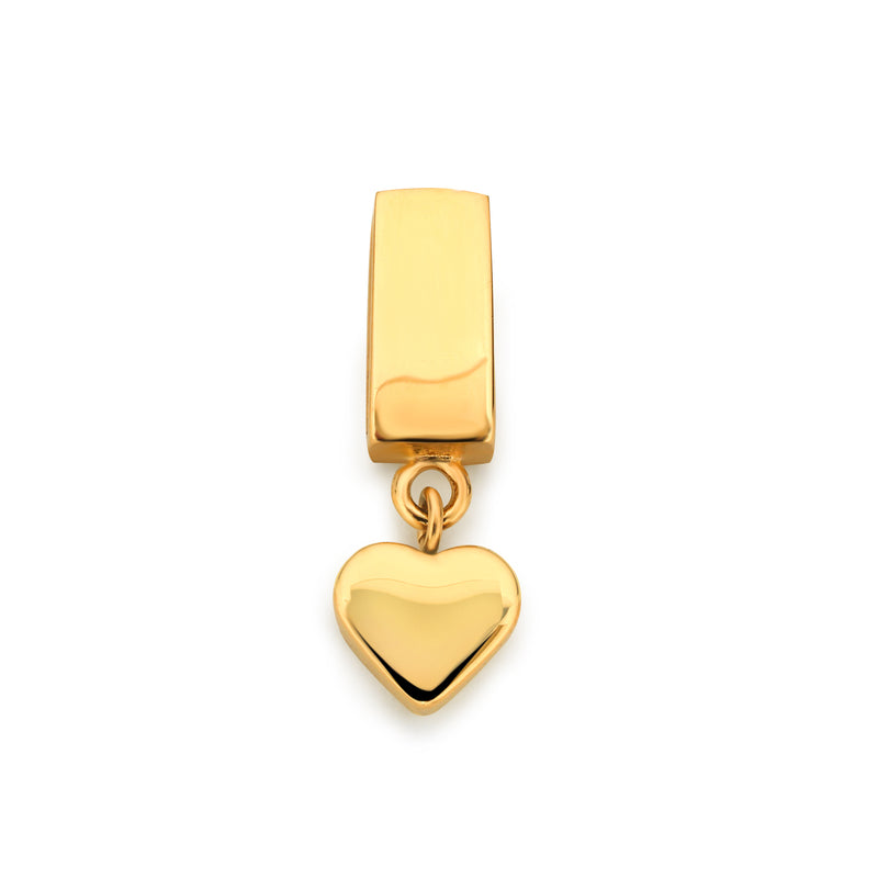 Mesh charm little heart gold
