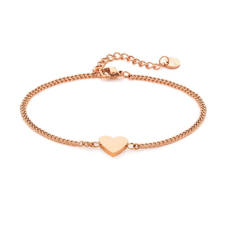 Heart chain rosé gold