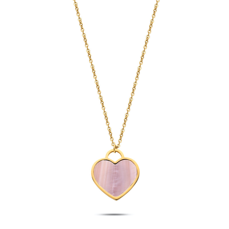 Heart pearl necklace gold